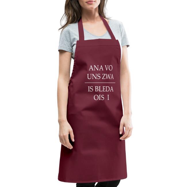 Vorschau: ana vo uns zwa is bleda ois i - Kochschürze