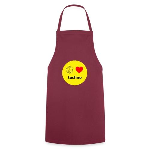 paz amor techno - Delantal de cocina
