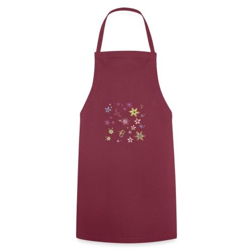 flowers and butterflies - Grembiule da cucina