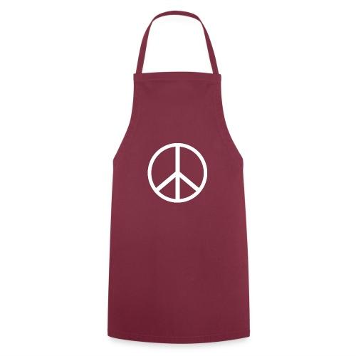Símbolo de la paz blanco - Delantal de cocina