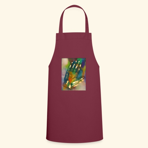 Hand in bunt - Kochschürze