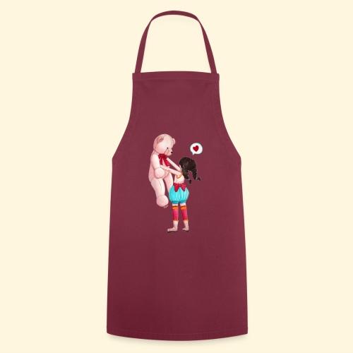 Fille au Nounours géant - Tablier de cuisine