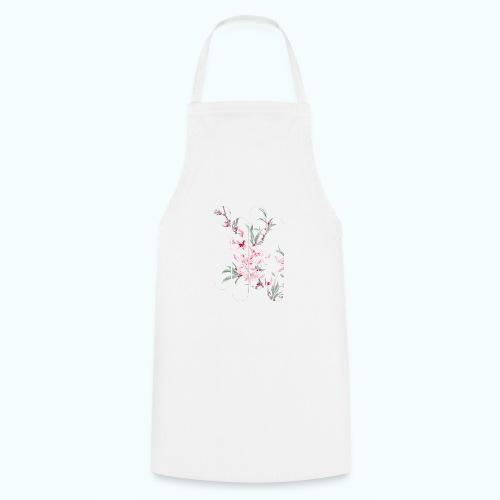 Vintage Japan watercolor flowers - Cooking Apron