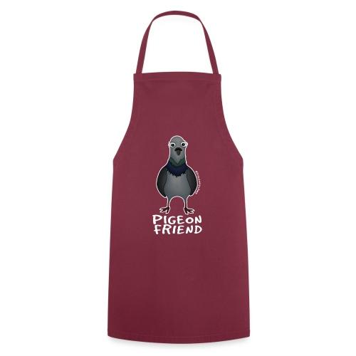 Amy's 'Pigeon Friend' design (white txt) - Cooking Apron