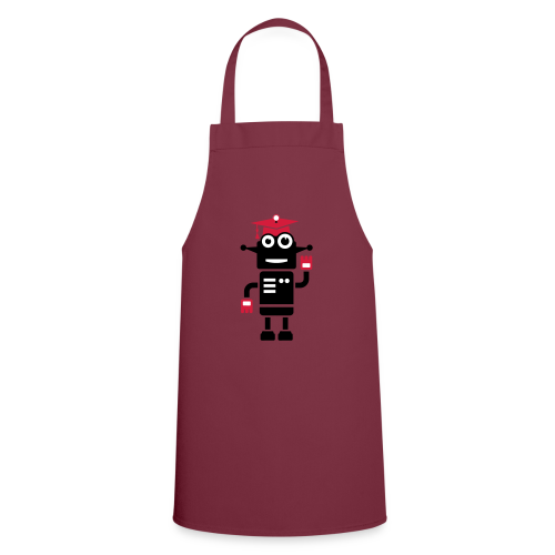 Roboter mit Doktorhut Geschenk zur Promotion - Kochschürze