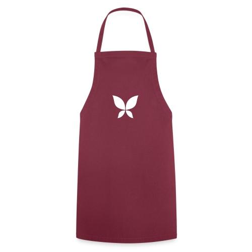 Stahlzart Butterfly White - Kochschürze