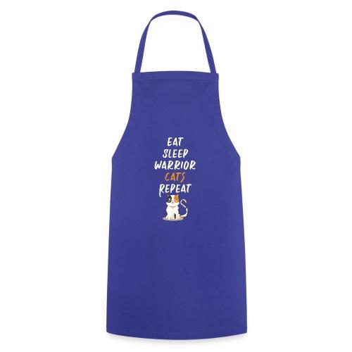 Eat sleep warrior cats repeat - Tablier de cuisine