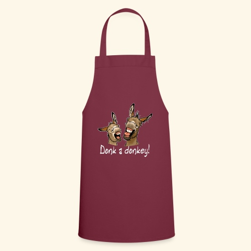 Ane Donk a donkey (texte blanc) - Tablier de cuisine