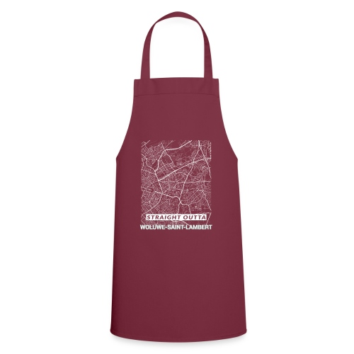 Straight Outta Woluwe-Saint-Lambert city map - Cooking Apron