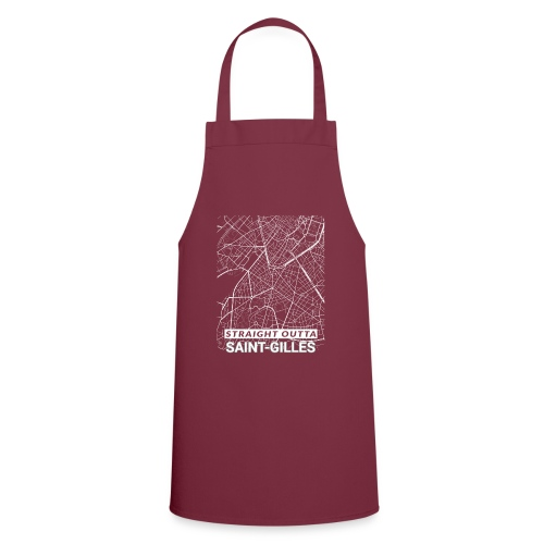 Straight Outta Saint-Gilles city map and streets - Cooking Apron