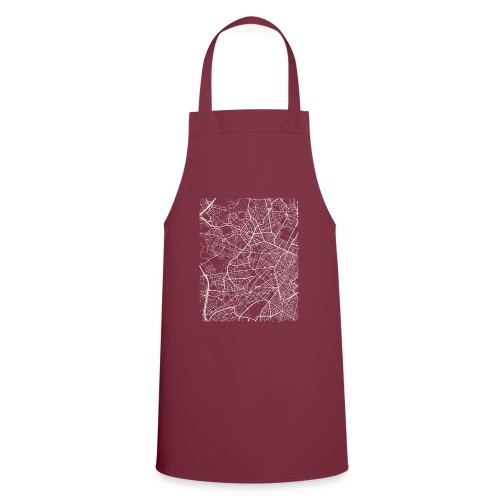 Minimal Molenbeek city map and streets - Cooking Apron