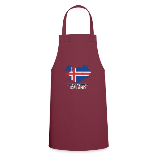 Straight Outta Iceland country map - Cooking Apron