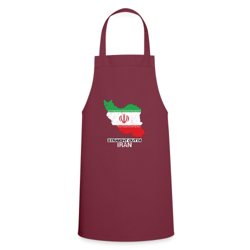 Straight Outta Iran country map & flag - Cooking Apron