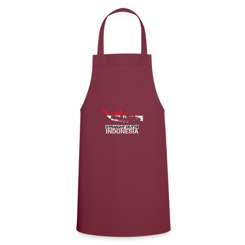 Straight Outta Indonesia country map & flag - Cooking Apron