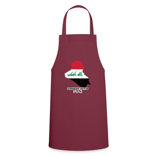 Straight Outta Iraq country map & flag - Cooking Apron