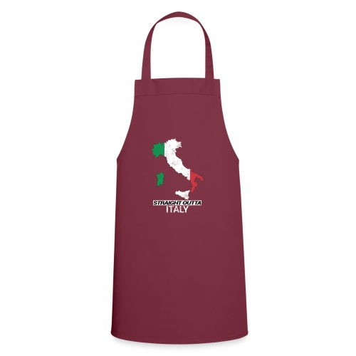 Straight Outta Italy (Italia) country map flag - Cooking Apron