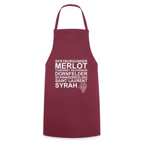 Kochschürze Wein Rebsorten rot - Kochschürze