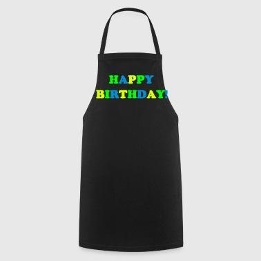 Happy Birthday Geburtstag Pure Geschenk Statement - Fartuch kuchenny