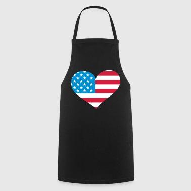 USA  Herz; Heart USA - Keukenschort