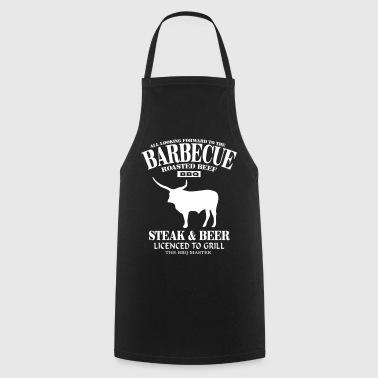 Barbecue - Steak & Beer - Fartuch kuchenny