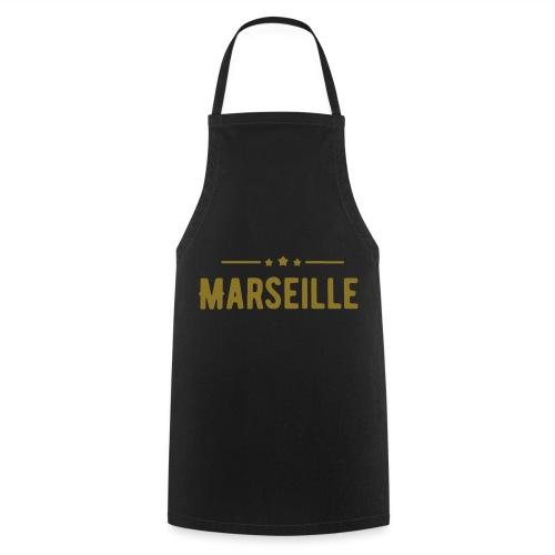 marseille in Goldener Schrift - Kochschürze