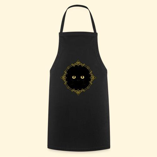 Badge Chat Noir - Pixel Art - Tablier de cuisine