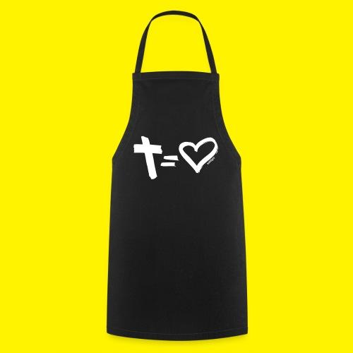 Cross = Heart WHITE // Cross = Love WHITE - Cooking Apron