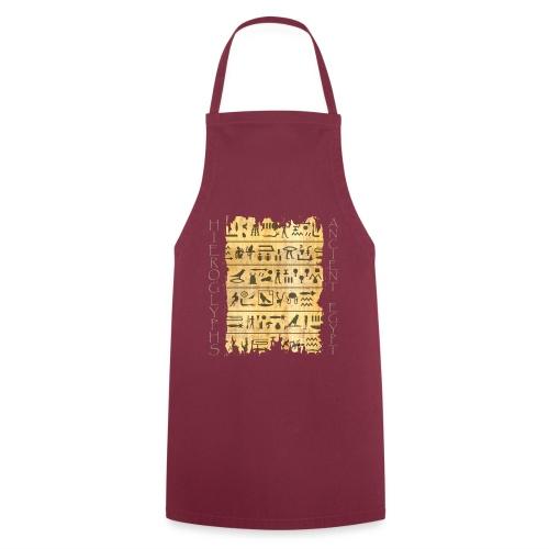 ausgerissener Papyri mit Hieroglyphen - Kochschürze