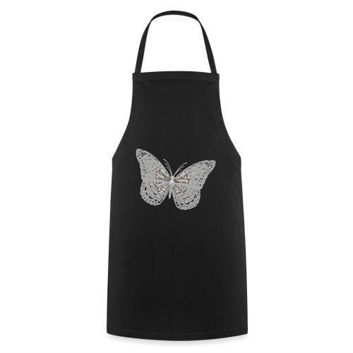 Süßer Schmetterling mit filigranen Totenköpfen - Kochschürze