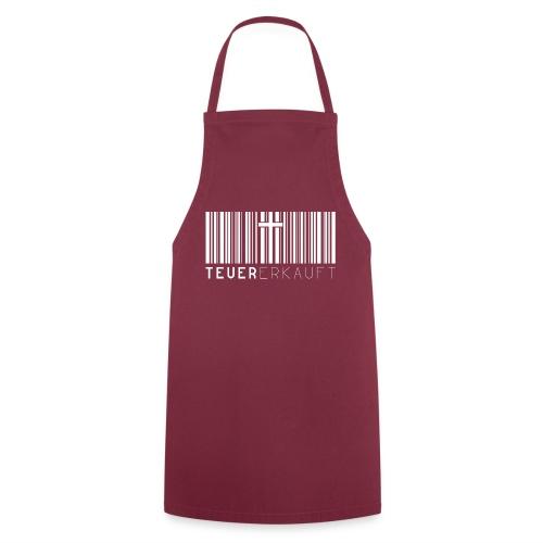 Teuer Erkauft Barcode Jesus Kreuz - Christlich - Kochschürze