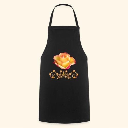 orange Rose, Ornament, Rosen, Blumen, Blüten, edel - Kochschürze