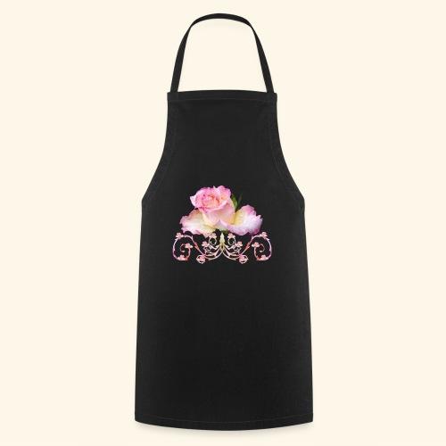Rose pink, Ornament, Rosen, Blumen, Blüten, floral - Kochschürze