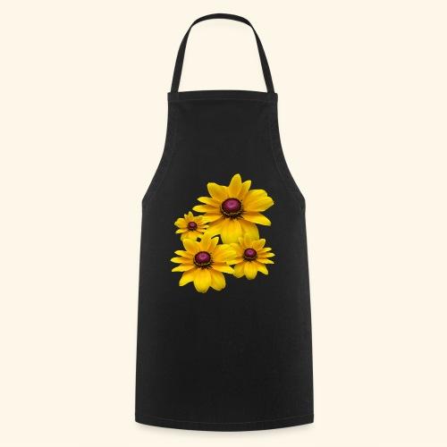 gelb blühende Sonnenhut Blumen, Blüten, floral, - Kochschürze