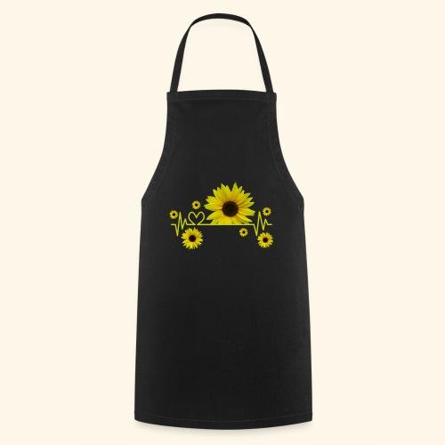 Sonnenblumen, Sonnenblume, Herzschlag, Herz, Blume - Kochschürze