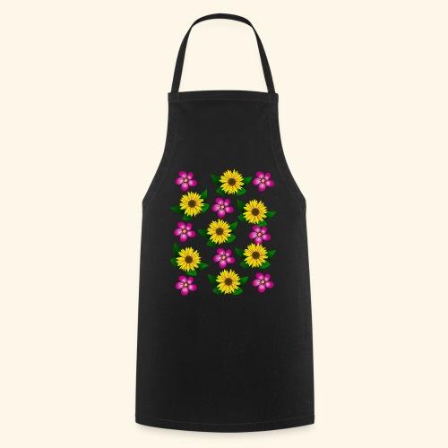 Sonnenblumen, pinke Blumen, floral, Blüten, pink - Kochschürze