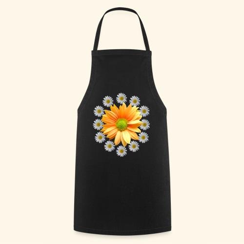 Margeriten mit einer orangen Chrysantheme, Blumen - Kochschürze