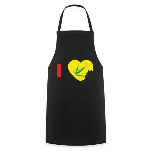 i love zam zam - i love Cannabis - Tablier de cuisine