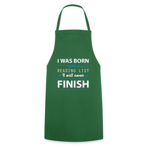 0192 Leseliste   Buchliste   Bücher   Buchwurm - Cooking Apron