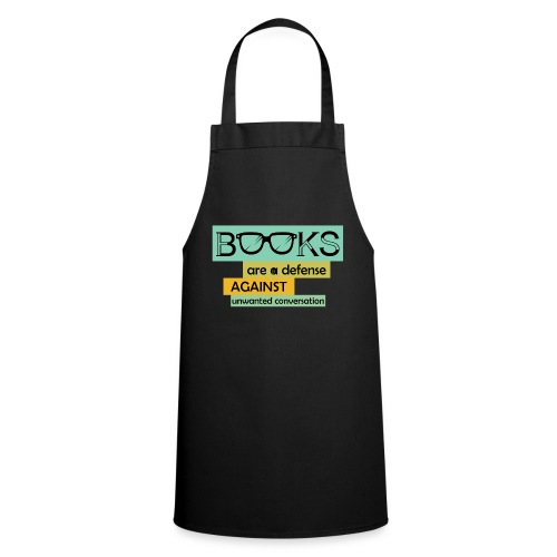 0201 books are a defense ... | reader - Cooking Apron