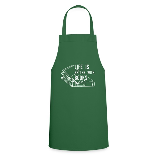 0226 Life is better with books | reader - Cooking Apron