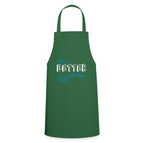 0229 Life is better with books | Read - Cooking Apron