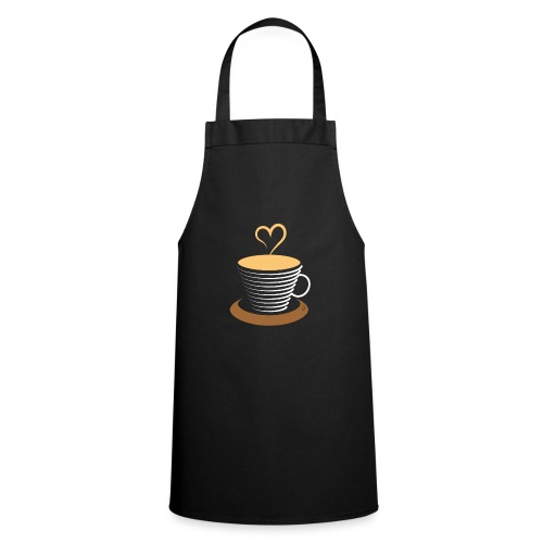 0252 Coffee   Love   Heart   Cup   coffee pot - Cooking Apron