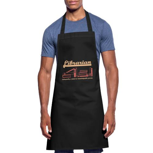 0333 Cool saying funny Quote Librarian - Cooking Apron