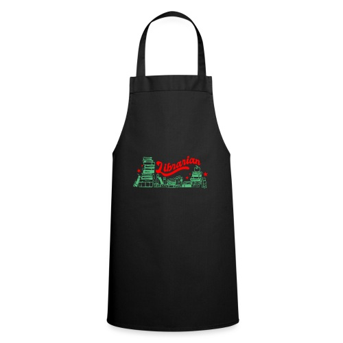 0322 Stack of books Librarian bookshelf - Cooking Apron