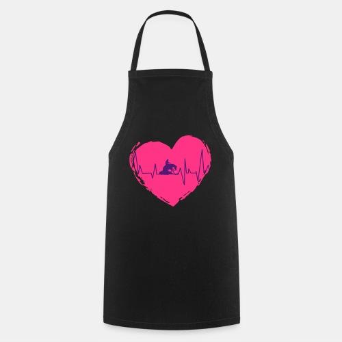 Herz Heartbeat Slider Reining Herzschlag - Kochschürze