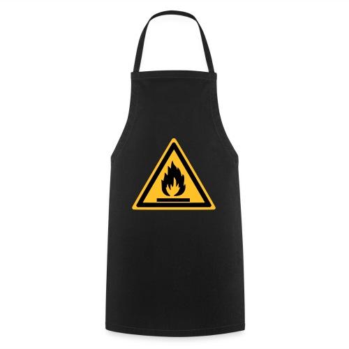 Shorty Noir Inflammable - Tablier de cuisine