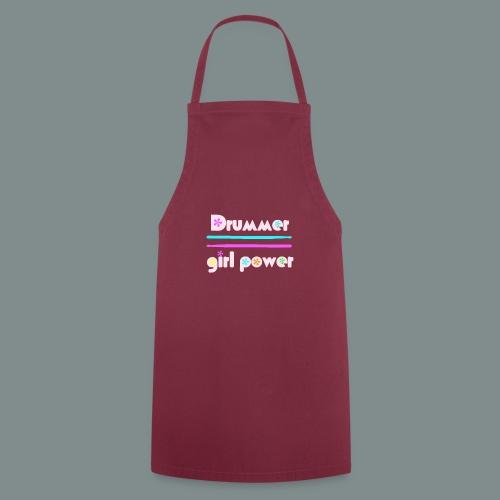 Drummer girlpower rose - idee cadeau batteur - Tablier de cuisine