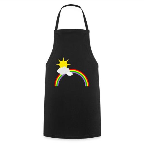 Regenbogen, Sonne, Wolken - Kochschürze