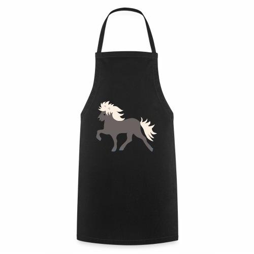 Windfarbenes Islandpferd - Kochschürze