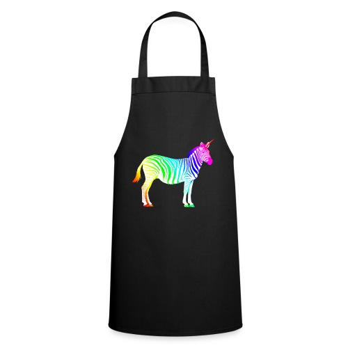 Zebra Einhorn Unicorn Regenbogen Zauber Magie - Cooking Apron